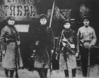 Красноармейцы на станции Унеча