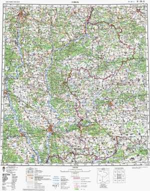 Карта Брянская обл