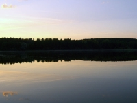 Озеро вечером